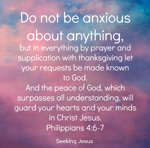 Seeking Jesus Philippians 4 peace GF